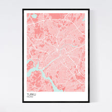 Load image into Gallery viewer, Turku City Map Print