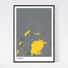 Load image into Gallery viewer, Uganda Country Map Print
