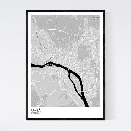 Umeå City Map Print
