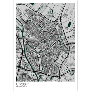 Map of Utrecht, Netherlands