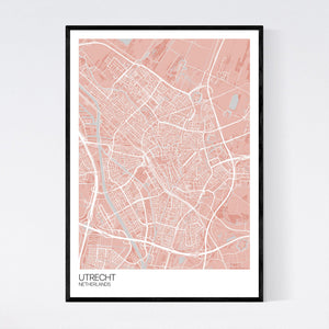 Utrecht City Map Print
