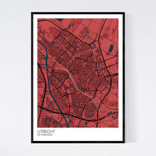 Load image into Gallery viewer, Utrecht City Map Print