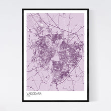 Load image into Gallery viewer, Vadodara City Map Print