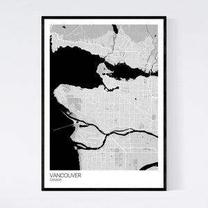 Map of Vancouver, Canada