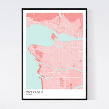 Load image into Gallery viewer, Vancouver City Map Print
