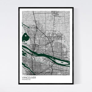Vancouver City Map Print