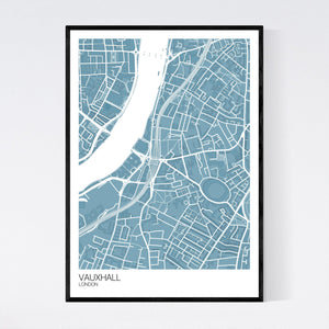 Map of Vauxhall, London