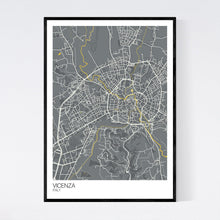 Load image into Gallery viewer, Vicenza City Map Print