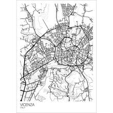 Load image into Gallery viewer, Map of Vicenza, Italy