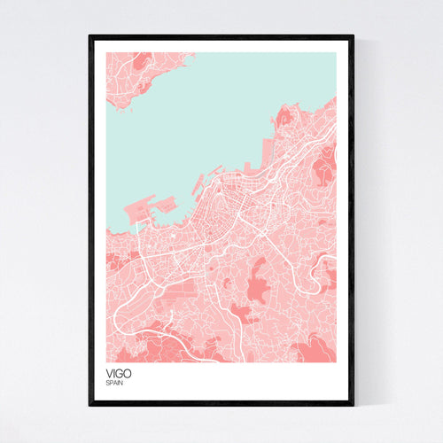 Map of Vigo, Spain