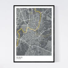 Load image into Gallery viewer, Vilnius City Map Print