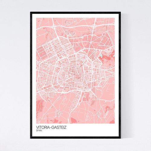 Map of Vitoria-Gasteiz, Spain