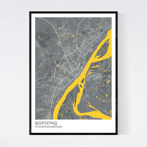 Volgograd City Map Print