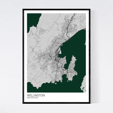 Load image into Gallery viewer, Wellington City Map Print