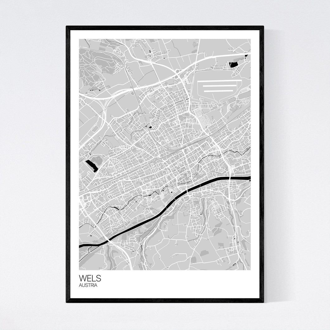 Wels City Map Print