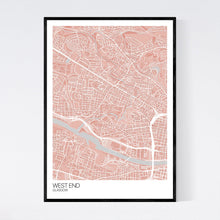 Load image into Gallery viewer, West End Neighbourhood Map Print