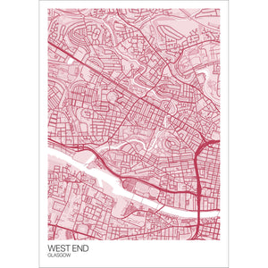 Map of West End, Glasgow