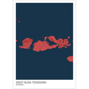 Map of West Nusa Tenggara, Indonesia