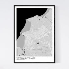 Load image into Gallery viewer, Weston-super-Mare City Map Print