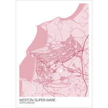Load image into Gallery viewer, Map of Weston-super-Mare, United Kingdom
