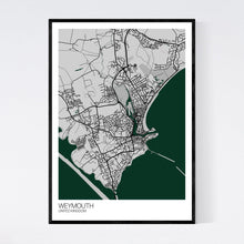 Load image into Gallery viewer, Weymouth City Map Print