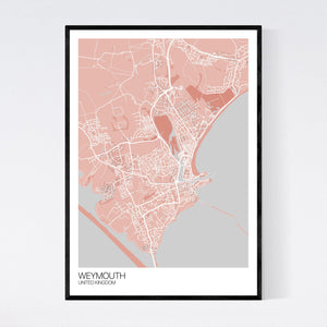 Weymouth City Map Print