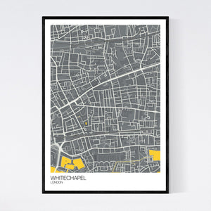 Whitechapel Neighbourhood Map Print
