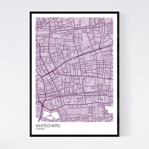 Map of Whitechapel, London