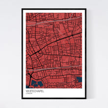 Load image into Gallery viewer, Whitechapel Neighbourhood Map Print