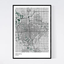 Load image into Gallery viewer, Wichita City Map Print