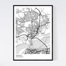 Load image into Gallery viewer, Widnes City Map Print