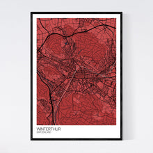 Load image into Gallery viewer, Winterthur City Map Print