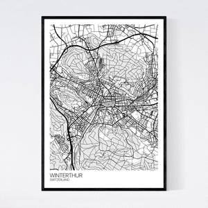 Winterthur City Map Print