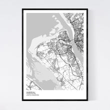 Load image into Gallery viewer, Wirral Region Map Print