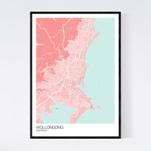 Load image into Gallery viewer, Wollongong City Map Print