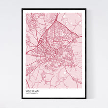Load image into Gallery viewer, Wrexham City Map Print