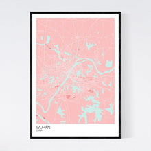 Load image into Gallery viewer, Wuhan City Map Print
