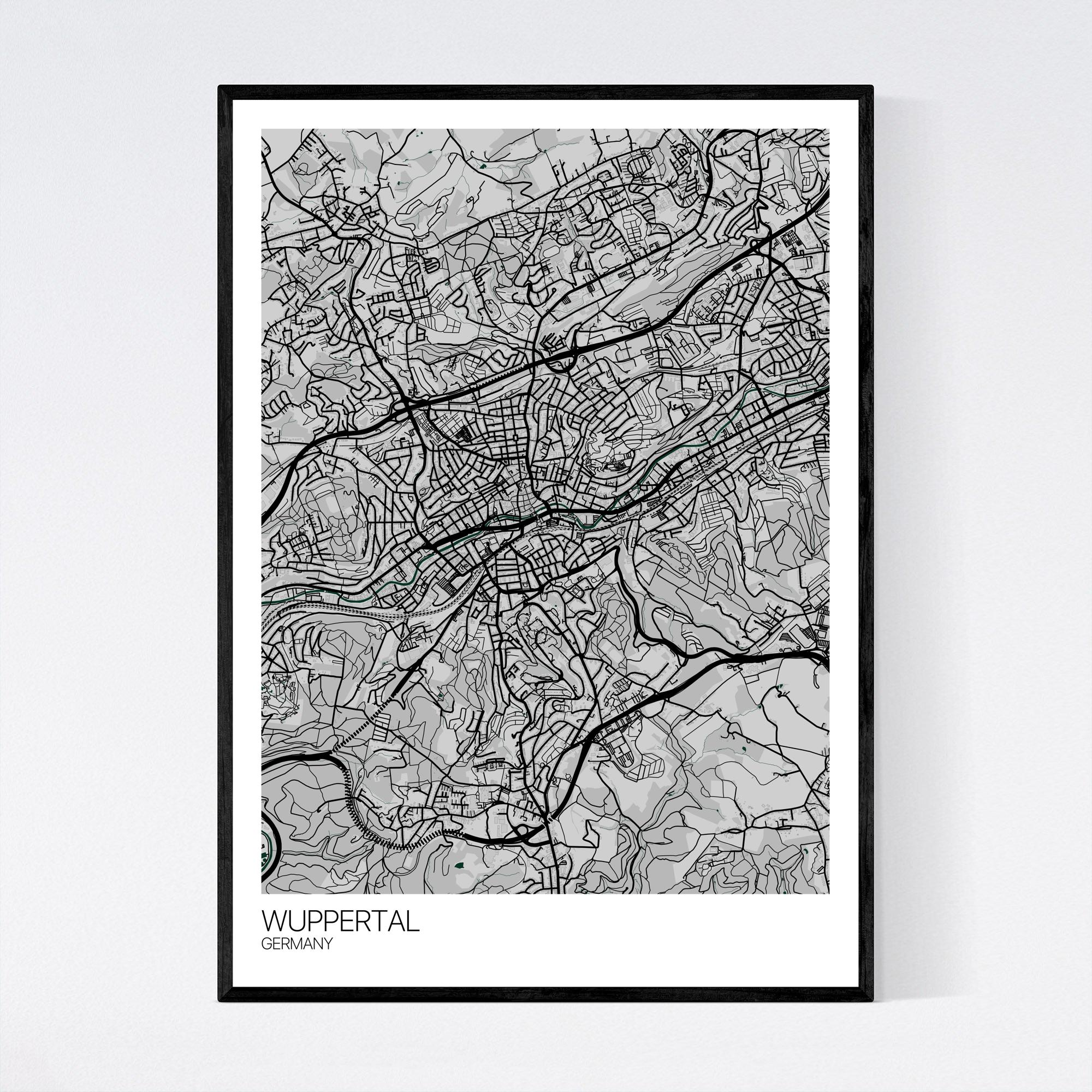 Wuppertal Map Art Print - Fast International Shipping ... on rome germany map, bad lippspringe germany map, plochingen germany map, trier germany map, lubbecke germany map, hellenthal germany map, kochel germany map, havixbeck germany map, lengerich germany map, goerlitz germany map, lampertheim germany map, mayence germany map, blankenheim germany map, barmen germany map, erkelenz germany map, donaueschingen germany map, landsberg am lech germany map, ochtrup germany map, colditz germany map,