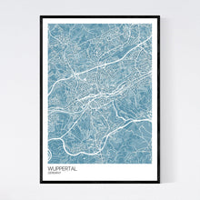 Load image into Gallery viewer, Wuppertal City Map Print