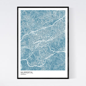 Wuppertal City Map Print