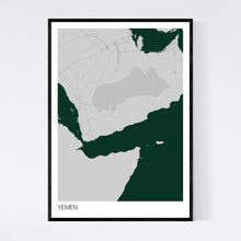 Load image into Gallery viewer, Yemen Country Map Print