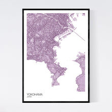 Load image into Gallery viewer, Yokohama City Map Print