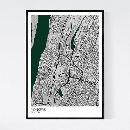Map of Yonkers, New York