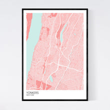 Load image into Gallery viewer, Yonkers City Map Print