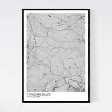 Load image into Gallery viewer, Yorkshire Dales Region Map Print