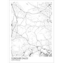 Load image into Gallery viewer, Map of Yorkshire Dales, United Kingdom