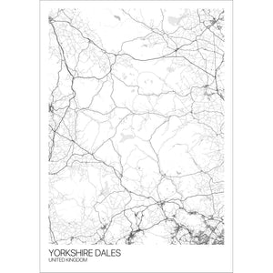 Map of Yorkshire Dales, United Kingdom