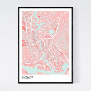 Zaandam City Map Print