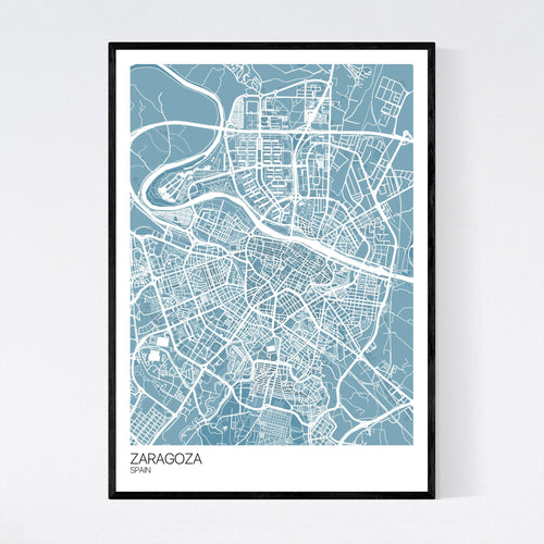 Map of Zaragoza, Spain