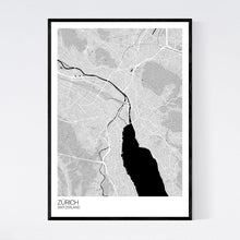 Load image into Gallery viewer, Map of Zürich, Switzerland